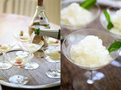 Lemon Champagne Mint Cocktails turned into Granita - Adult Easter ...