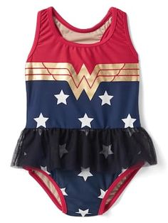 babyGap   Wonder Woman™ tulle swim one-piece   Gap