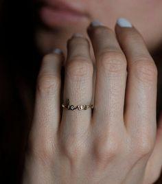 Love Ring SOLID Gold Love Ring Rose Gold Love Ring door MinimalVS