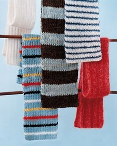 Knitted scarves are the perfect handmade gift: They're easy to make, one size fits all, and small imperfections give them charm.