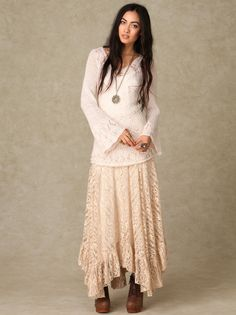 Directions In Lace Maxi Skirt