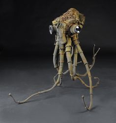 Octopus and Rhino Found Object Sculptures by Jud Turner - Upcycled Sculpture Octopus Art, Scrap Metal Art, Robot Sculpture, Sculptures, Recycled Art, Found Object Art, Sculpture, Found Art, Found Object