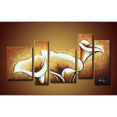 @Overstock - This multipanel hand-painted canvas art set is a beautiful, unique addition to your living room. Since each one is hand painted, you will get a truly one-of-a-kind display piece. This contemporary decor comes as a set of five ready-to-hang paintings.http://www.overstock.com/Home-Garden/Flowers-Hand-painted-Oil-on-Canvas-Art-Set/4117199/product.html?CID=214117 $122.99