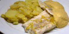 Steinbeißer mit Rotweinessig-Zabaione und Kartoffelsalat