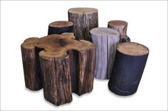 "Furniture. Urban Tree Salvage, a Canadian company, makes ""wonderful stools that double as tables from felled trees that would otherwise become mulch,"" Chong says. ""The 18- to 20-inch height is so versatile"" and ""they're still made one by one."""