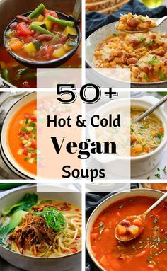 Hot and cold vegan soup recipes are included in this definitive collection of the best plant-based soups the internet has to offer. Whatever the weather, there's something here for you! Vegan Chicken Noodle Soup, Lentil Potato Soup, Italian Orzo Spinach Soup, Cream Of Broccoli Soup, Vegetarian Cabbage, Vegetarian Recipes, Curried Lentil Soup, Pasta E Fagioli Soup, Peasant Food