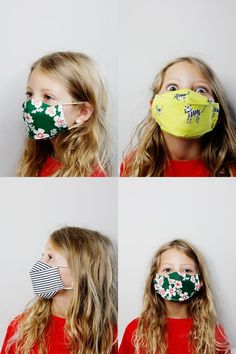 3d mask template - the most comfortable face mask - see kate sew Face Masks For Kids, Easy Face Masks, Best Face Mask, Diy Face Mask, Crochet Mask, Sewing Kids Clothes, Mask Template, Homemade Face Masks, Sewing Tutorials