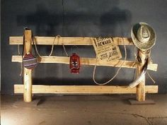 Fence with Accessories – Cedar ( Cedar fence with western accessories Rodeo Party, Cowboy Theme Party, Cowboy Birthday, Wild West Theme, Wild West Party, Western Theme Decorations, Western Party Themes, Western Party Centerpieces, Western Christmas Decorations