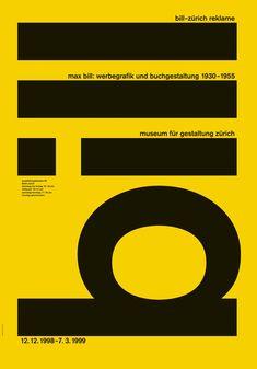 Max Bill: werbegrafik und buchgestaltung 1930-1935 Design: Robert & Durrer