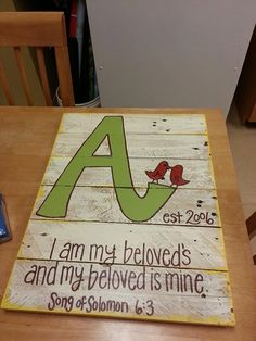 Wood Pallet Art - Custom Wedding Pallet with initials, date, and verse