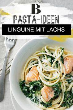 Schnelle Nudelgerichte: Die besten Blitzrezepte. Lachs ist etwas Feines – und weil er so gut schmeckt, mischen wir ihn unter die Sauce aus Spinat. Zum Rezept: Linguine mit Lachs.