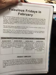 The Principal Blog: Fabulous February Staff Fun!!!