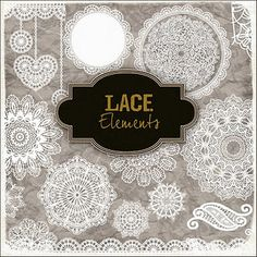 Lace Elements freebie -  Lots of beautiful freebies!! Just use the free download option.