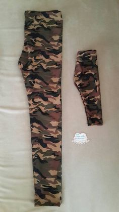 Matching mommy and me leggings , military mommy and me leggings , mom and me matching legging on Etsy, $12.00