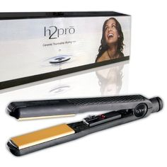 H2pro Professional Ceramic Tourmaline Styling Flat Iron, 1.25 Inch by H2PRO *** This is an Amazon Affiliate link. Read more reviews of the product by visiting the link on the image.