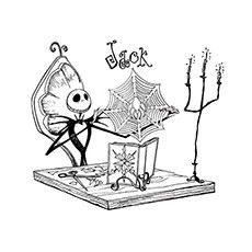 Print Coloring Image Christmas PagesFree ColoringAdult ColoringColoring SheetsColoring BooksChristmas ColorsJack SkellingtonNightmare Before