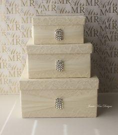 Lace Wedding Card Box Money Holder Custom Made By Jamiekimdesigns On