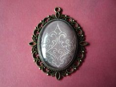 """Grey Design Pendant 2 1/2"""" by 2"""" by ForeverCreateDesigns on Etsy"""