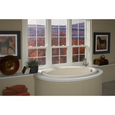 Laurel Mountain Corry Ii 1-Person White Acrylic Oval Whirlpool Tub (Co