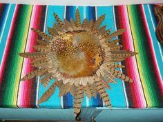 Vintage RONTANA Durango CO PHEASANT Real Feather WALL