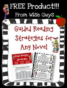 FREE Guided Reading Activities and Worksheets for Any Novel. 8 pages of great information for teachers in grades 3-5!