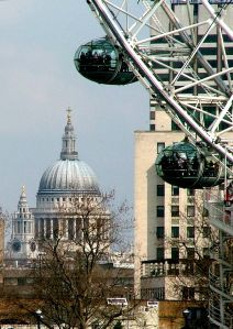 St. Paul's and The London Eye by Steve Gold ~ Been here & Loved it!