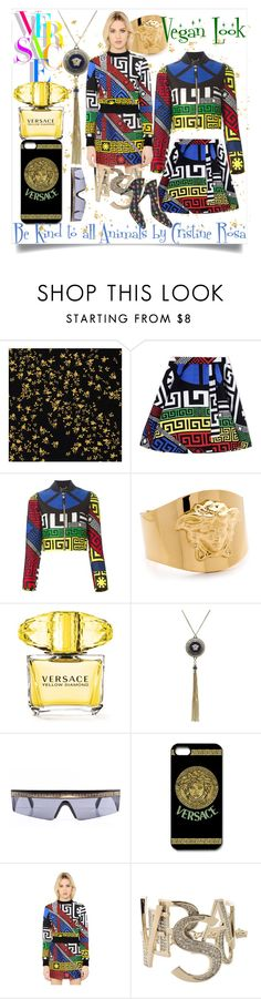 """""""Wild Versace"""" by cristine-rosa on Polyvore featuring Versace, women's clothing, women's fashion, women, female, woman, misses and juniors"""