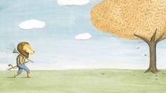 """Marianne Dubuc """"Il leone e l'uccellino"""", Orecchio Acerbo   Interni"""