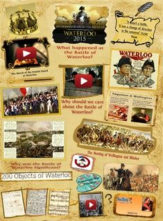 Waterloo 200 - The battle that changed the face of the world: napoleon, napoléon, napoleón, waterloo Kingdom Of The Netherlands, School Site, Battle Of Waterloo, Online Posters, Scientific Method, 21st Century, Multimedia, Presents, Change