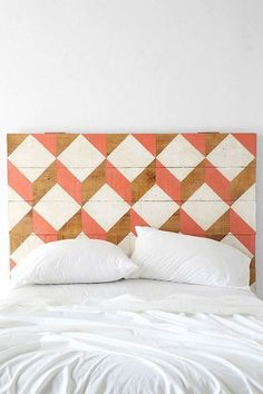 Geometric Patterned Headboard