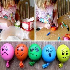 basteln mit kindern anti stressball selber machen