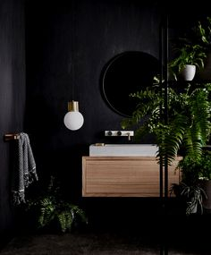 Wonderful As Far As Bathroom Paint Colors Go, Black Is Hardly Ever At The Top Of