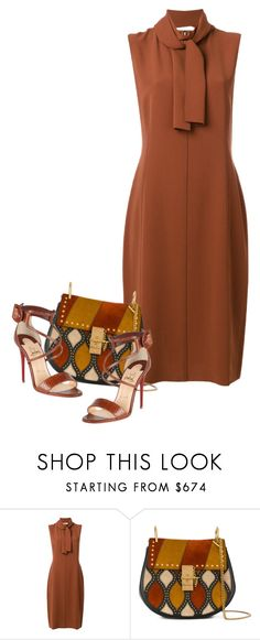 """""""Browns"""" by ritadolce ❤ liked on Polyvore featuring Joseph, Chloé and Christian Louboutin"""