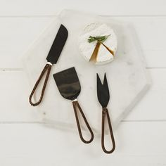 Just Slate Copper Cheese Knives, Set of 3 | Prezola - The Wedding Gift List