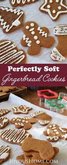 Soft Gingerbread Cookies | Crisp on the outside, soft and chewy in the middle, and packed with spicy ginger, molasses and brown sugar. via @joyhome