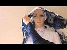 Square Hijab Tutorial 1: Tying a square hijab like a wrap