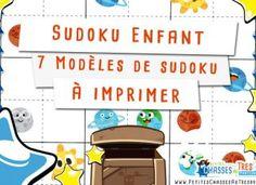 Sudoku Enfant – 7 Modèles de sudoku pour enfant à imprimer