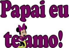 Alfabeto Decorativo: Papai eu te amo!