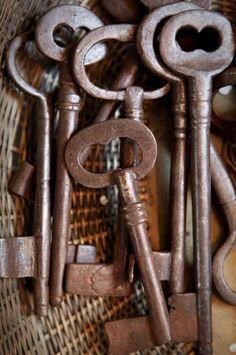 I love the stories and wonder behind old rusty keys. They are like a gateway into someone's life, a portal to the past. Someone used these and held these, and protected what they loved with these. They are so beautiful in that respect