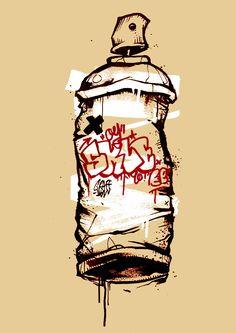 Spray Can by @graffmatt #graffmatt #art #spray #sprayart #spraypaint #spraycan…
