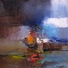 "Landscapes xv by Kushlani Jayasinha Oil ~ 12"" x 12"" #abstractart"
