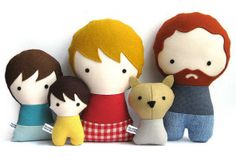 Cool custom family dolls, because everyone needs a mini-me. Or a mini-us.