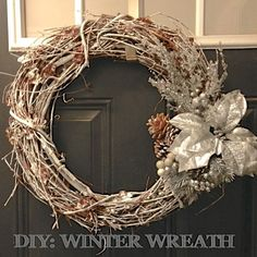 How to turn your fall wreath into a winter wreath.