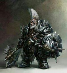 Dwarf Fighter Elite Warrior - Pathfinder PFRPG DND D&D d20 fantasy