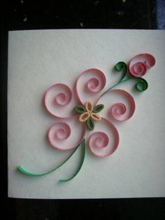 Pink and simple quilling