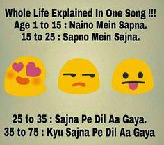 Mera toh 12 ke age mein hi Dil aa gya Crazy Jokes, Crazy Funny Memes, Really Funny Memes, Funny Facts, Funny Friendship Quotes, Funny True Quotes, Jokes Quotes, Life Quotes, Sarcastic Jokes