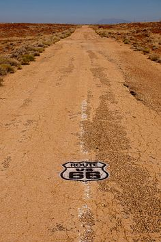 Old Route 66 In The Arizona Desert