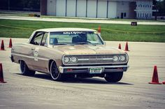 Running the cones in Project #gvelle last weekend at #midwestmusclecarchallenge by #bowlerperformance #oldcarsrule #forgeline #ridetech  #mastmotorsports Photo cred to the man @burntbridgeimages by aaronoberle65
