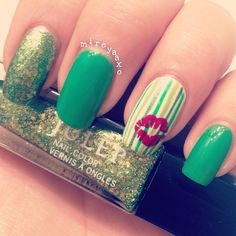 Cute St.Patrick Day Nails