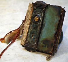 art journal cover - antique/vintage hardware - Doorplate Book